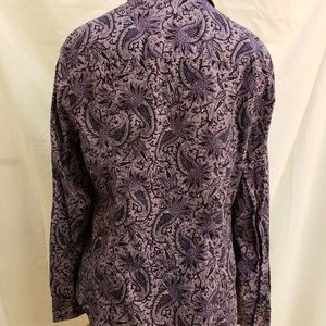 MICHAEL Michael Kors Tops - Michael Kors purple paisley shirt, size large